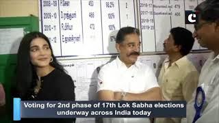 Kamal Haasan, daughter Shruti Haasan cast their votes in Chennai