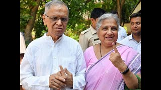 Phase 2 Lok Sabha polls: Narayana Murthy appeals to youth in Bengaluru to come out and vote