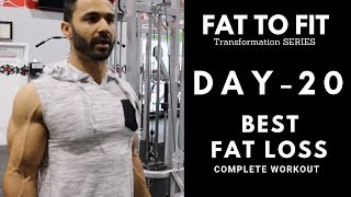 Full Body FAT LOSS Workout! Day-20 (Hindi / Punjabi)