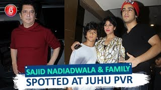 Sajid Nadiadwala Spotted With His Family At Juhu PVR