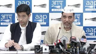 AAP Leader Gopal Rai & Raghav Chadha Public 5 yr Report Card of LS MP Ramesh Bidhuri