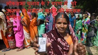 लोकसभा चुनाव के 7 चरण में  पूरे उत्साह से मतदान कराने की भरसक कोशिश  THE NEWS INDIA