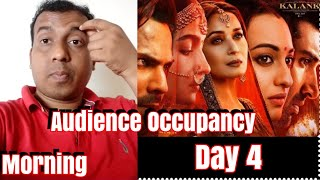 Kalank Movie Audience Occupancy Day 4 Morning Shows & Collection Update