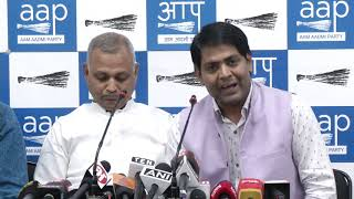 AAP Leader Brijesh Goyal Briefs media on Modi's Rally with the Traders in New Delhi