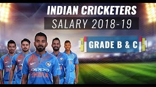 India's Grade B & C cricketers and their salaries 2018-19
