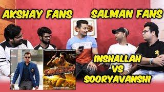 Inshallah Vs Sooryavashi On Eid 2020 | Salman Khan Fans Vs Akshay Kumar Fans FACE OFF | Awam Ki Awaz