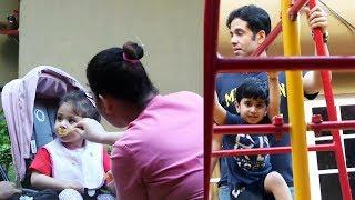 Soha Ali Khan Daughter Inaaya & Tusshar Kapoor With Son Laksshya Spotted At Khar