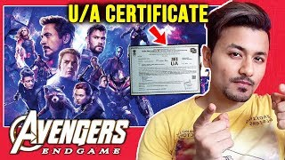 Avengers Endgame GETS UA Certificate In India | Run Time 181 Mins | Thanos Vs Super Heroes