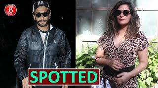 Ranveer Singh and Richa Chaddha Spotted iN Town