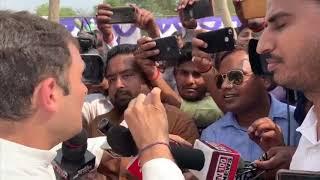 Congress President Rahul Gandhi addresses media in Amethi, Uttar Pradesh