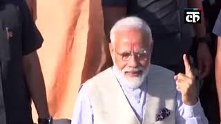 लोकसभा चुनाव 2019: PM मोदी ने अहमदाबाद में डाला अपना वोट