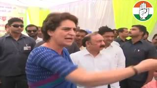 Smt. Priyanka Gandhi Vadra addresses media in Raebareli, Uttar Pradesh