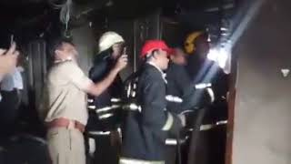 The heavy fire in the drawing section of Secunderabad Rail Nilayam 7th Floor