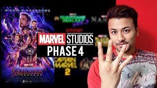 Avengers Endgame   MARVEL PHASE 4 Films   Doctor Strange 2, Black Panther 2, Shang-Chi, The Eternals