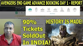 Avengers End Game Record Breaking Advance Booking Report Day 1 I Will Break Baahubali 2 Record