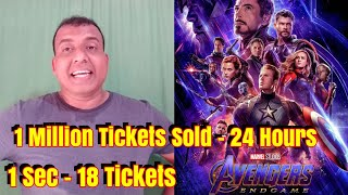 Avengers End Game 1 Million Tickets Sold In Over 24 Hours ????