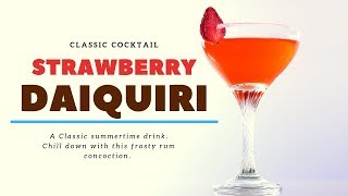 How to make Cocktail | Strawberry Daiquiri | Cocktail video | Cocktails India |