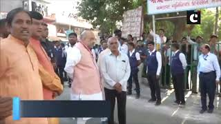 LS polls: PM Modi arrives at his mother's residence in Ahmedabad, to cast vote shortly