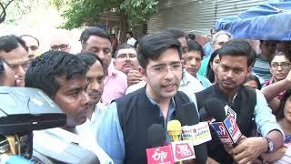 AAP Lok Sabha Candidate Raghav (South Delhi) Filed Nomination in Presence of RS Member ND Gupta
