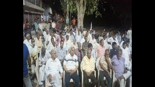 चरखी दादरी की अग्रसेन धर्मशाला में गांधीनगर रेलवे अंडरपास को लेकर किया गया एक बैठक का आयोजन