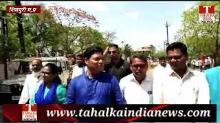 बसपा प्रत्याशी लोकेंद्र सिंह राजपूत ने अपनी पत्नी के साथ रैली में करीब 3 किमी पैदल शामिल हुए
