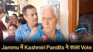 Jammu में Kashmiri Pandits ने बड़े जोश के साथ डाला Vote , घर वापसी की उम्मीद