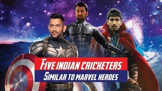 5 Current Indian Cricketers & their Marvel equivalents
