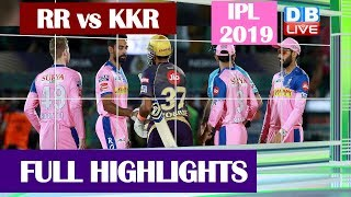 RR vs KKR Match in Jaipur Highlights | IPL 2019 | IPL 2019 Live Score | #SportsLive|