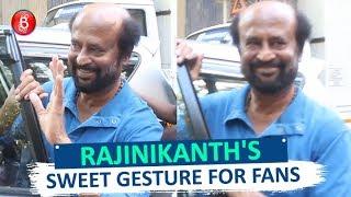 Rajinikanth's Sweet Gesture For Fans During His Shoot In Mumbai