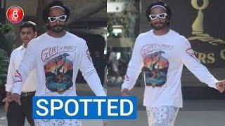 Ranveer Singh Spotted In A FUNKY Look In Public