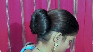 Simple & Easy Bun Hairstyle for Beginners | Party Hairstyle for Medium/Long Hair 2019 .juda for girl