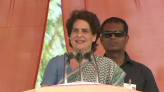 Smt. Priyanka Gandhi Vadra addresses a Rally in Hamirpur, Uttar Pradesh