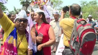 AAP Lok Sabha Candidate Brijesh Goyal (New Delhi) Filed Nomination in Presence of Satyendar Jain