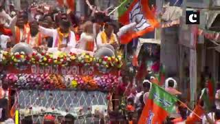 Dharmendra Pradhan holds roadshow in Odisha's Balasore