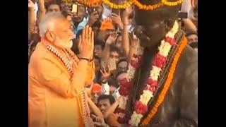 Modi in Varanasi: PM starts his roadshow with garlanding Malviya's statue