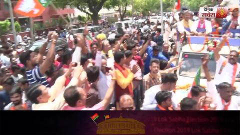 Exclusive Video: Nomination से पहले Kirron Kher को Support करने पहुंचे पति Anupam Kher