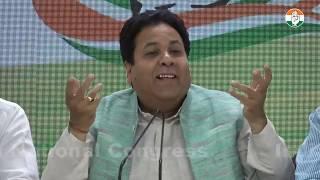 AICC Press Briefing By Rajeev Shukla at Congress HQ