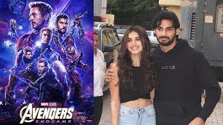 Tara Sutaria With Ahaan Shetty At Avengers Endgame Screening