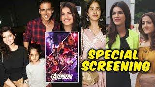 Avengers Endgame Special Screening | Akshay Kumar Janhvi Kapoor, Tara Sutaria, Sushant Rajput