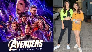 Kriti Sanon WATCHED Avengers Endgame With Sister Nupur Sanon | Special Screening