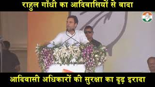 Lok Sabha Election 2019   Congress President Rahul Gandhi on Tribal Rights