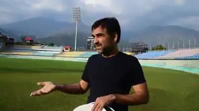 Pankaj Tripathi in Dharamshala Stadium. Hear what he has to say about the Himachal Pradesh
