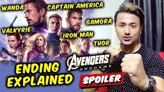 Avengers Endgame Ending Explained In Hindi | Captain America, Gamora, Thor, Iron Man, Valkyrie...