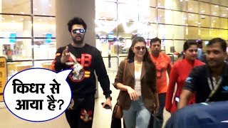 Jacqueline Fernandez And Manish Paul Spotted Chit Chatting At Mumbai Airport