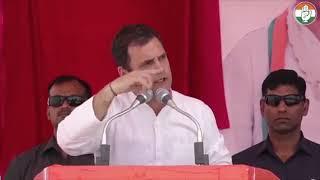 Congress President Rahul Gandhi addresses public meeting in Dholpur, Rajasthan