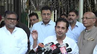 Abhishek Manu Singhvi and Randeep Singh Surjewala addresses media after meeting with EC