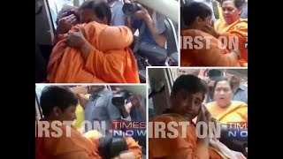 Watch: Sadhvi Pragya breaks down while meeting Uma Bharti