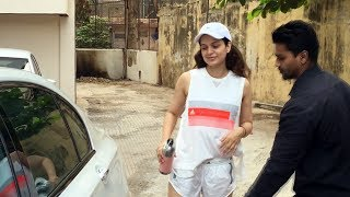 Kangana Ranaut Spotted At Pilates Gym Khar Watch Video