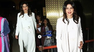 Stunning Priyanka Chopra Spotted At Mumbai International Airport After casting her vote