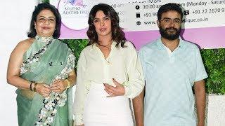 Priyanka Chopra At Mother Madhu Chopras Clinic Inauguration, JUHU